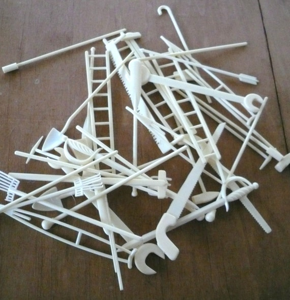 Vintage Pick Up Sticks Supplies Tools Game Classic Child