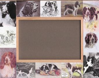 SPRINGER DOG Picture Frame / English Springer Spaniel / Vintage Art / Unusual Gifts / Photo