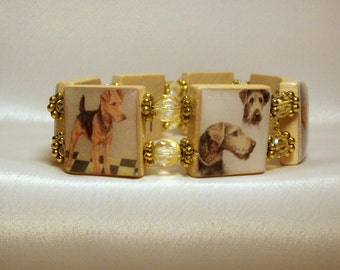 AIREDALE Jewelry / Upcycled SCRABBLE Art / Dog Lover / Unusual Gifts
