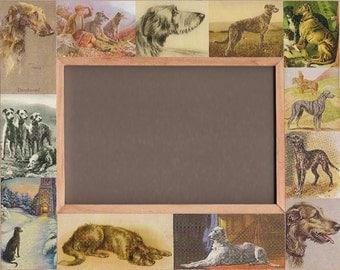 Scottish Deerhound Frame / Dog Gift / Vintage Art / Photo - Picture Frame