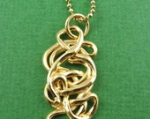 24kt Gold Vermeil Hand Crafted Pendant Necklace