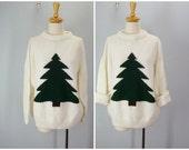 Christmas Sweater / 1980s Lodge Resort Tree Sweater