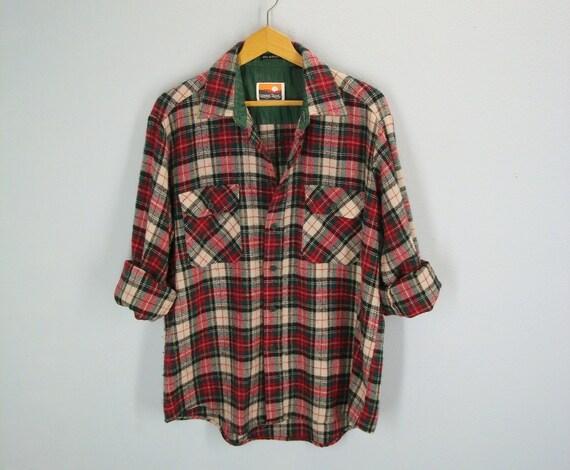 vintage Slouchy Lumberjack Flannel Shirt