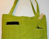 Green Pocket Tote