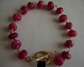 Ruby Rondel Bracelet