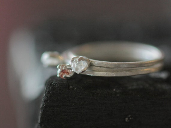 Clear Herkimer Diamond Ring Ready to ship size 6