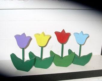 Wooden Tulip Flowers