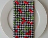 Cloth Napkins - Set of 4 - Cherries