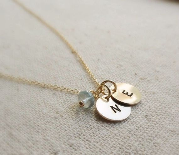 two initial necklace gold personalized necklace by