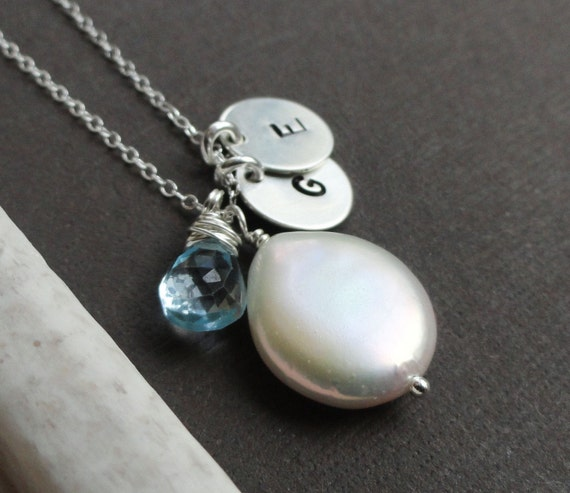 items similar to custom necklace with birthstone two