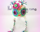 Newborn crochet owl hat, newborn Halloween costume,baby owl costume,newborn sleeping owl prop, baby girl owl hat, baby boy crochet owl hat.