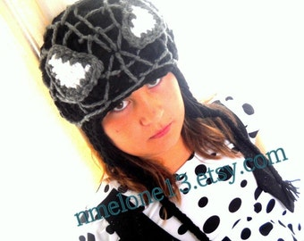 Black SPIDERMAN Handmade crochet Hat 0 to 10 years old please read shop Announcement