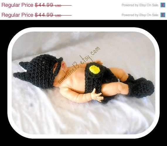 BATMAN Baby handmade crochet Set Hat diaper cover and boots 0 to 24 months years old