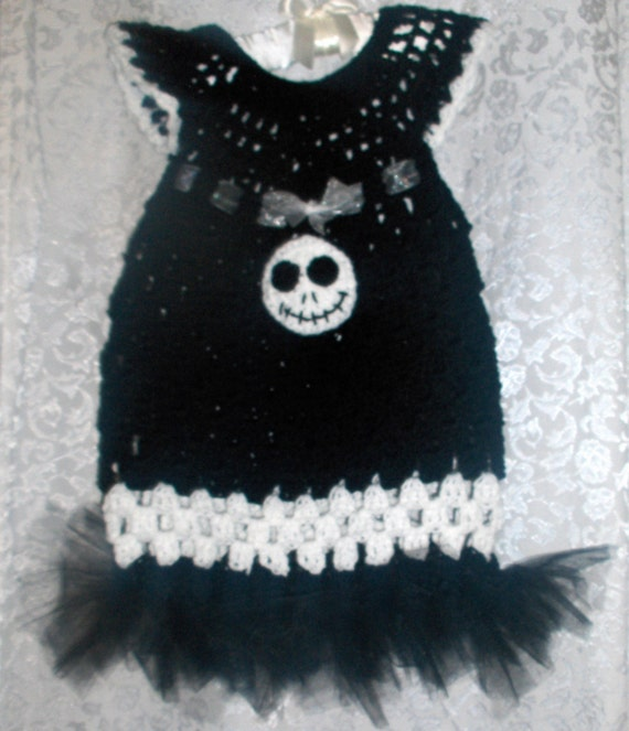Crochet Jack Skellington : Handmade Crochet Dress Jack Skellington with tutu by NattyHatty