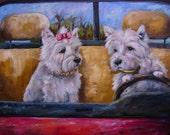Davis Westies Dogs West Highland Terriers PRINT