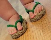 Instant Download - Crochet Pattern - Jute Sunshine Sandal (Sizes Newborn to 2 yrs.)