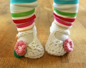Instant Download - Crochet Pattern - Jane Marie Baby Booties (Newborn to 12 mo.)