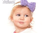 Instant Download - Crochet Pattern - Headband, Flowers, Bows (All sizes)