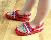 Instant Download - Crochet Pattern - Toddler/Child Sandals w/ or w/out backstrap