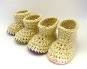 Crochet Pattern - Booties - Warm Winter Booties (Newborn - 2yrs)