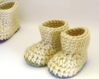Crochet Bootie Pattern - Warm Winter Booties (Newborn to 2 yrs)