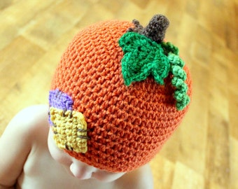 Instant Download - Crochet Pattern - Lil'Pumpkin Patch Hat (Newborn to Adult)