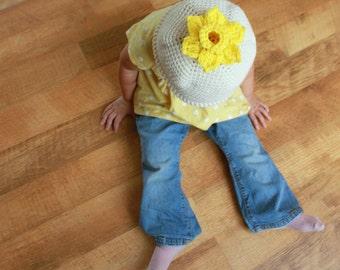 Instant Download - Crochet Hat Pattern - 3 different flower hats (Newborn to adult)