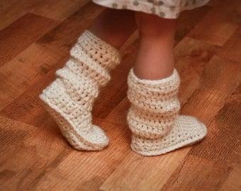 Crochet Pattern - Mamachee Boots (Baby to Child Sizes)