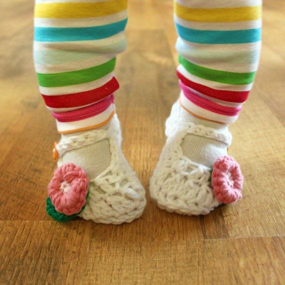 Instant Download - Crochet Pattern - Jane Marie Baby Booties (Newborn to 12 mo.)