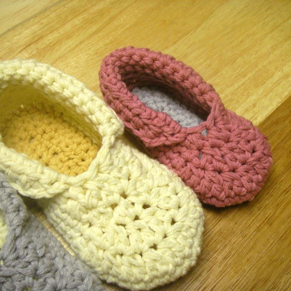 Crochet Patterns For Toddlers Slippers : Instant Download Crochet Pattern Toddler Child Slippers