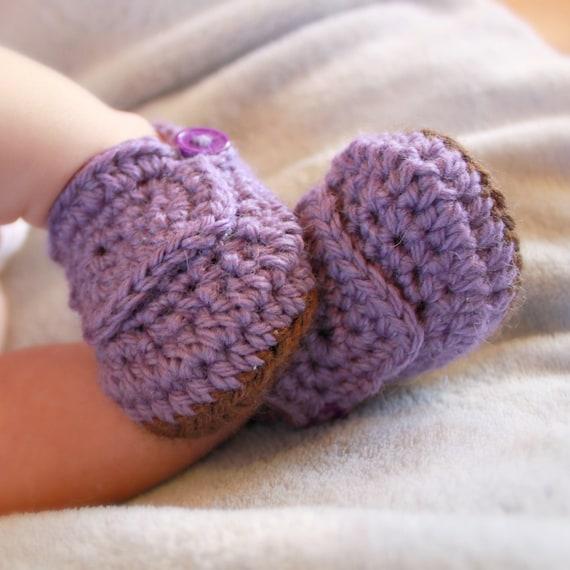 Instant Download - Crochet Pattern - Buccaneer Booties (Newborn to 18 mo.)