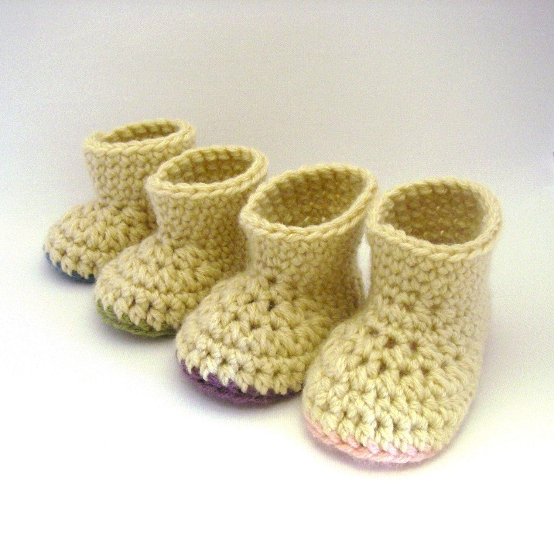 Crochet Pattern Booties Warm Winter Booties Newborn