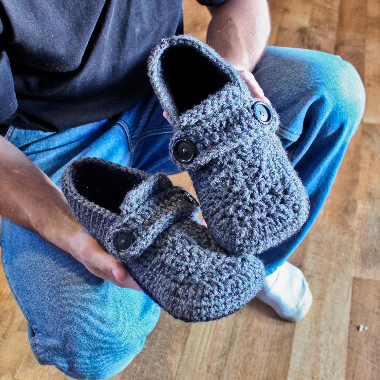 Crochet Pattern Opa Slippers Child/Men sizes 1-13