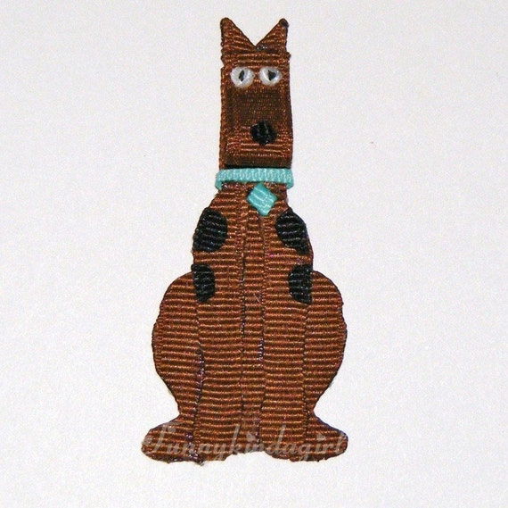 Scooby Dooby Doo Inspired Ribbon Character Sculpture Attached to Hair Bow Clip Barrette Magnet
