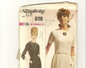 Simplicity Designer Fashion Misses Dress Sewing Pattern 6118 Size 10 Bust 31