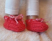 "18"" doll coral colored slippers"