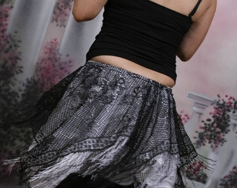Fringe Fairy Mini Skirt hip wrap overskirt