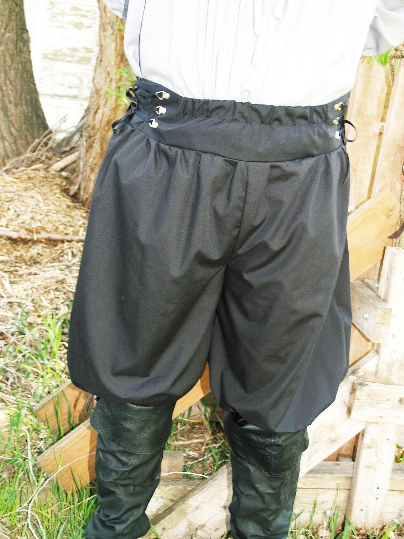 Pirate Pants Steampunk Renaissance Knee Breeches Knicker