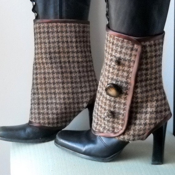 Brown Wool Spats