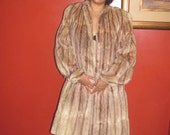 Gaylon Shop Fur Brownish Tan Sheared Beaver Coat