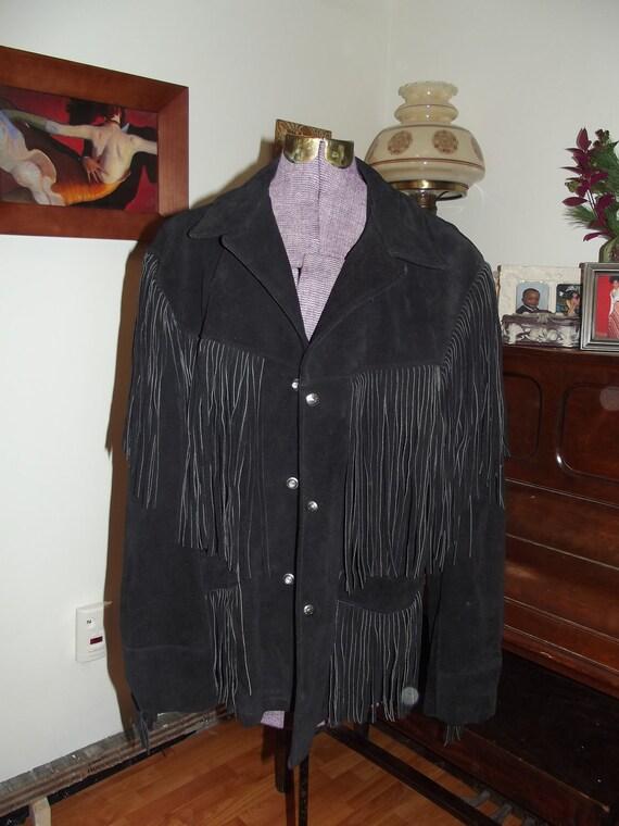 Schott Black Suede Western Jacket