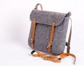 Harris Tweed Grey Effie Bag