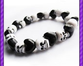 Skulls and Hearts Stretch Bracelet - 55% OFF