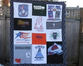 T SHIRT MEMORY Quilt  - upcycled, repurposed tee shirts into a quilt, sorority, band, any combination dear to you - Custom Order