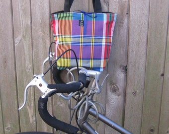 Plaid bag bright colors