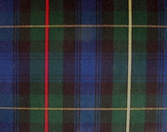 Stewart Hunting Tartan Plaid Fabric Upholstery Crafts Apparel Green Navy Black Red Yellow