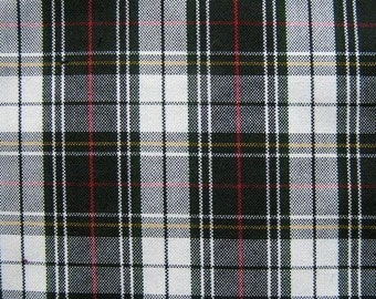 Black White Red Plaid Upholstery Slipcover Apparel Wedding Tablecloth Runner Crafting Fabric