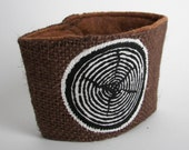 Slice of Wood Coffee/Beer Cozy with Gift Card Holder Option - ThinkGreene