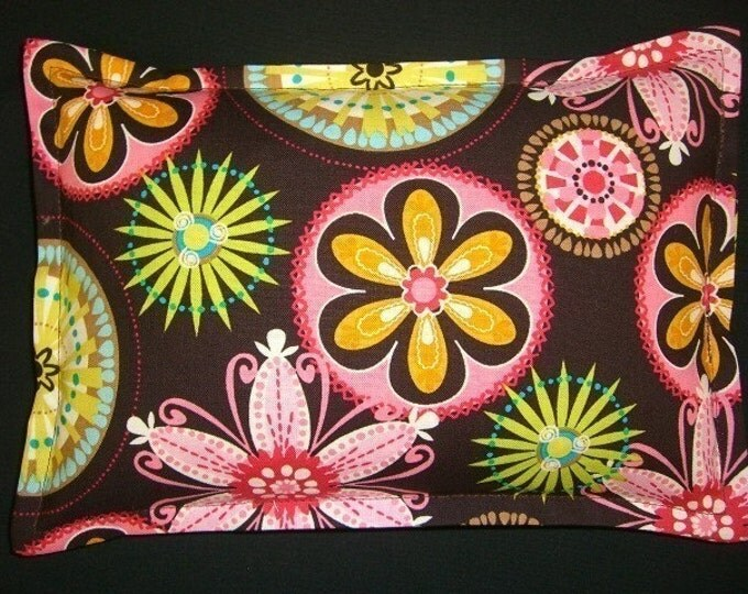 Corn Bags 9 x 11, Microwave Heating Pad, Corn Heat Packs, Relaxation Gift, Heat Therapy, Ice Pack, Birthday Gift, Carnival Bloom Brown