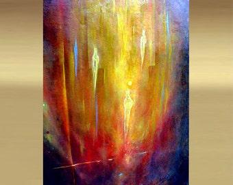 ORIGINAL modern fine art acrylic abstract painting on canvas by artist Carol Lee